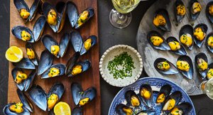 Nice Mussels! Mussels With Saffron Aioli