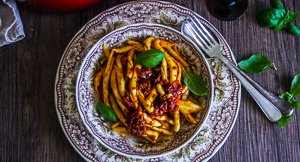Spicy Nduja Fileja with Roasted Cherry Tomato Sauce