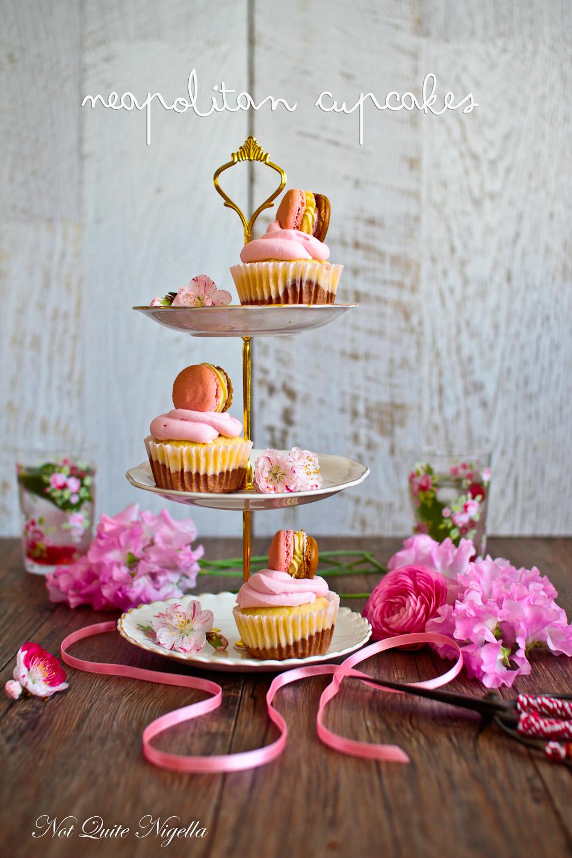 Neapolitan Cupcakes