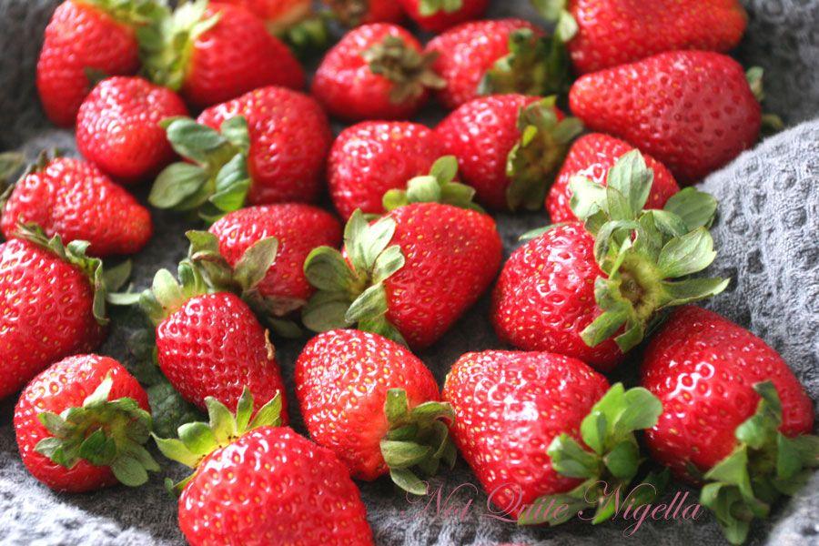 Strawberry Meringue Layer cake