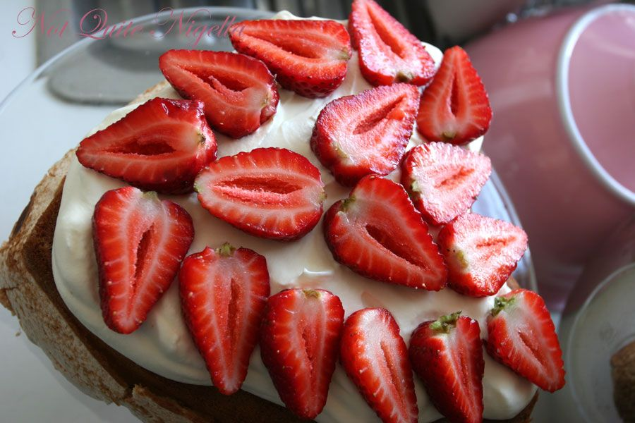 Strawberry Meringue Layer cake