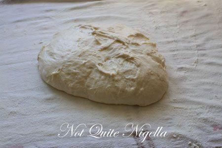 dough on teatowel