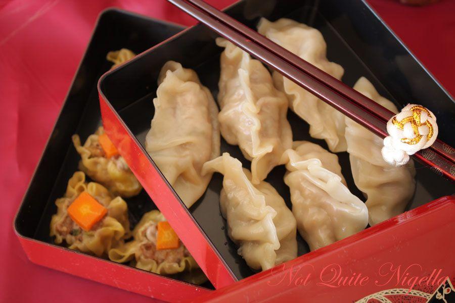 Home made won ton dumplings