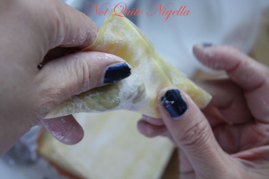 Home made wonton dumplings