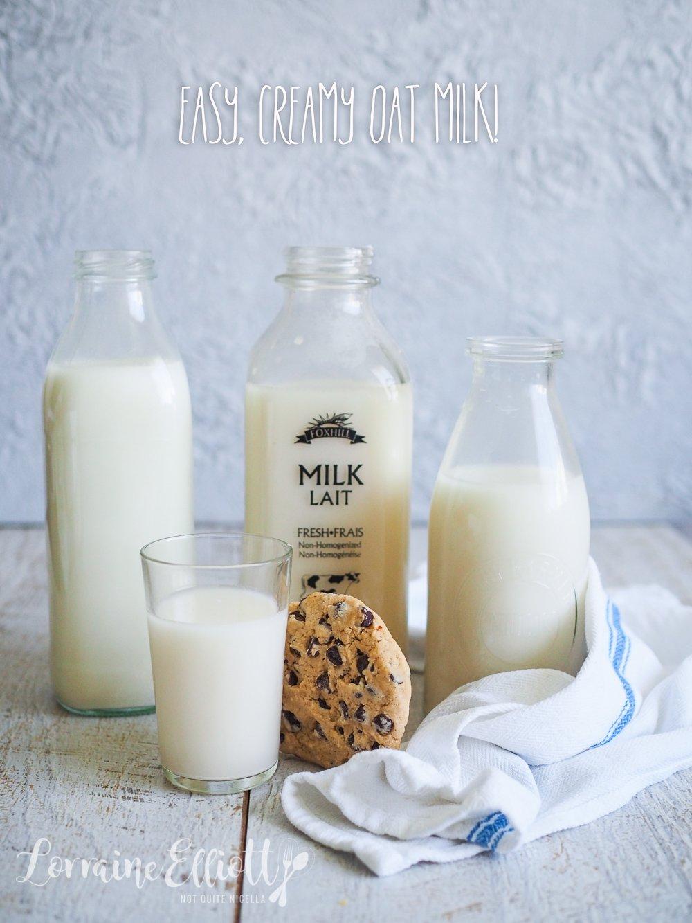 DIY Easy Creamy Oat Milk