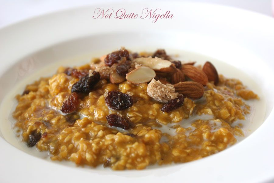 Oatmeal with pumpkin or sweet potato from Deceptively Delicious