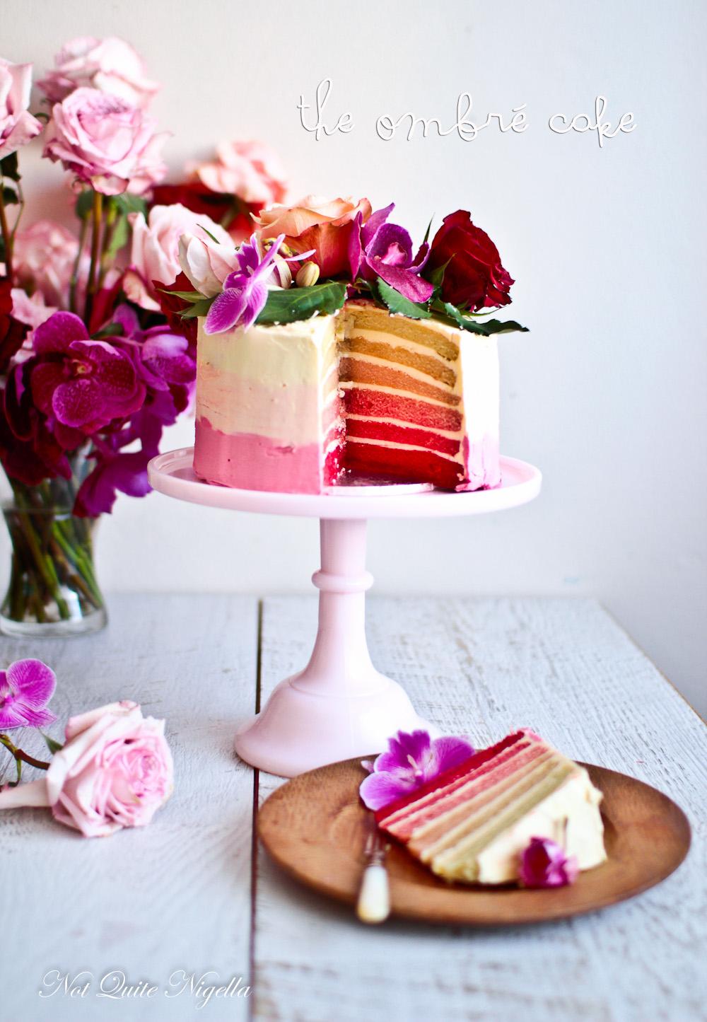 Ombre Buttercream Cake