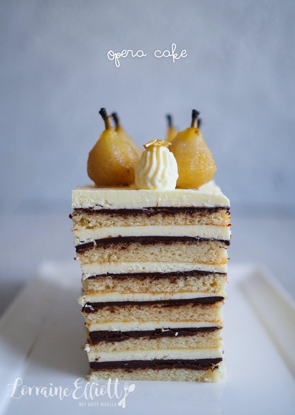Pear & Ginger Opera Cake