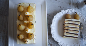 The High Notes: Pear & Ginger Opera Cake