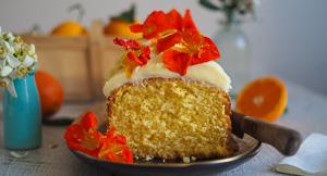 Orange & Coconut Syrup Loaf Cake