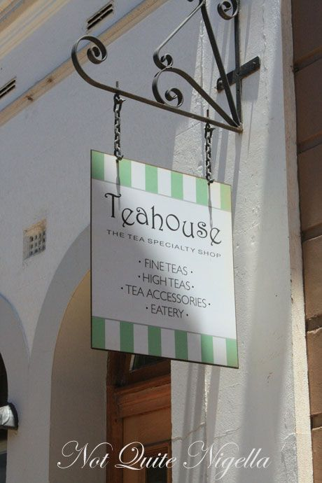 orange teahouse sign