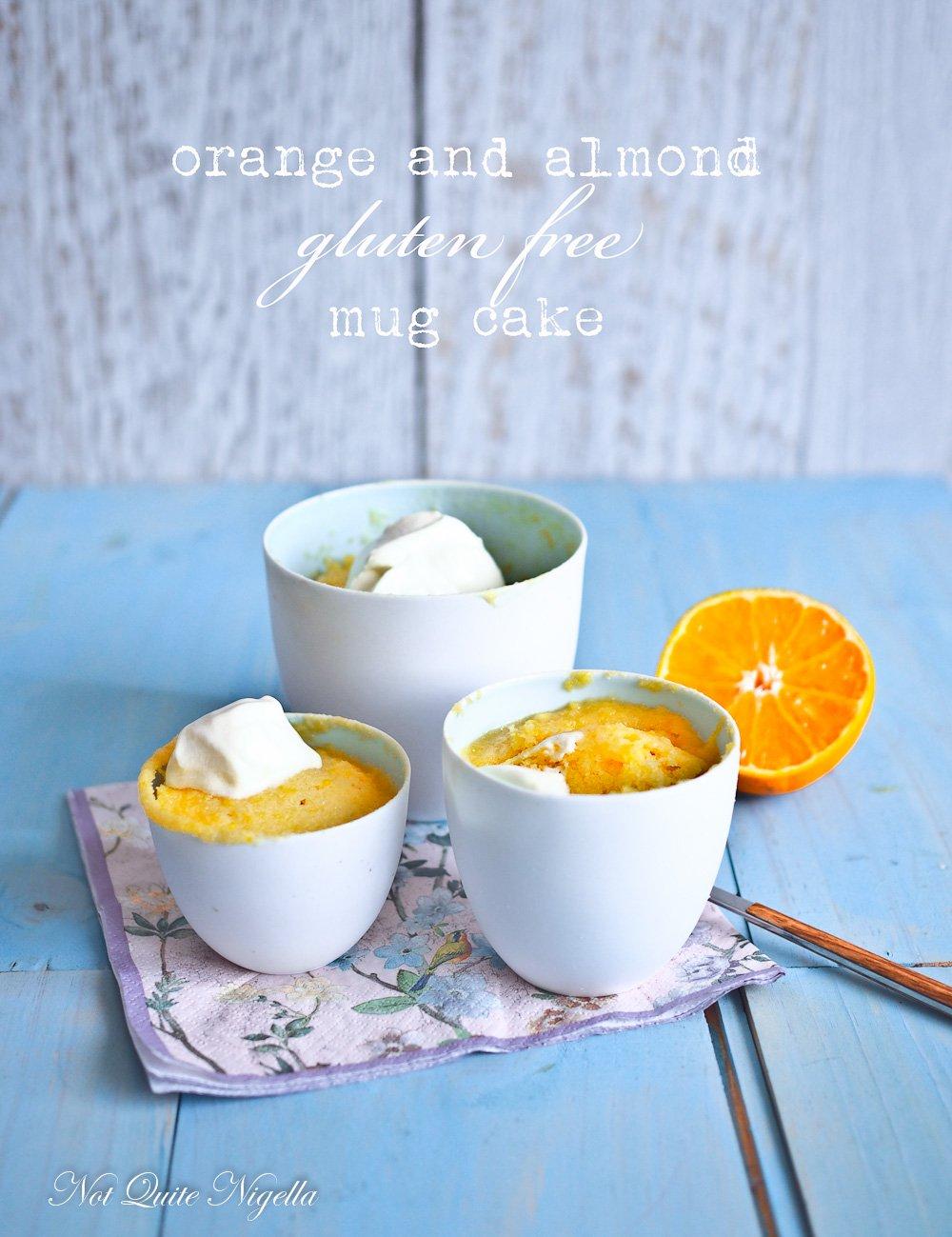 Orange Almond Mug Cake