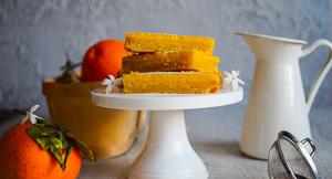 Melting Moments - Orange Marmalade Shortbread Bars