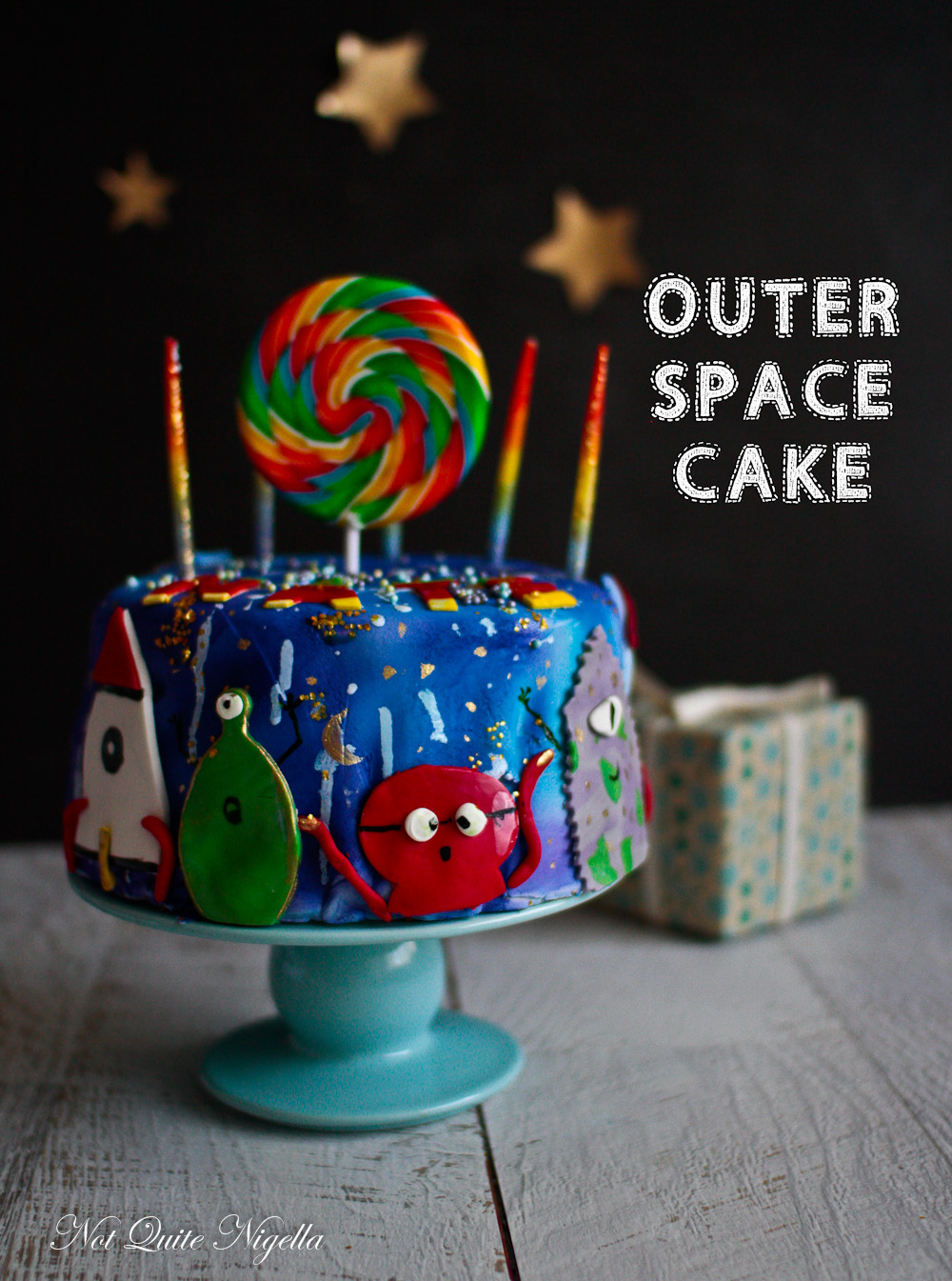 Awe Inspiring Outer Space Cake Aliens Spaceships Not Quite Nigella Funny Birthday Cards Online Inifofree Goldxyz