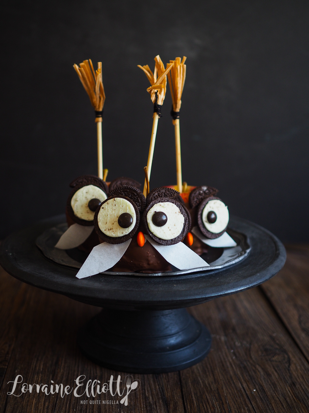 Harry Potter Owl Chocolate Dipped Apples
