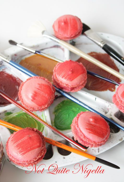 Paintbrush Macarons