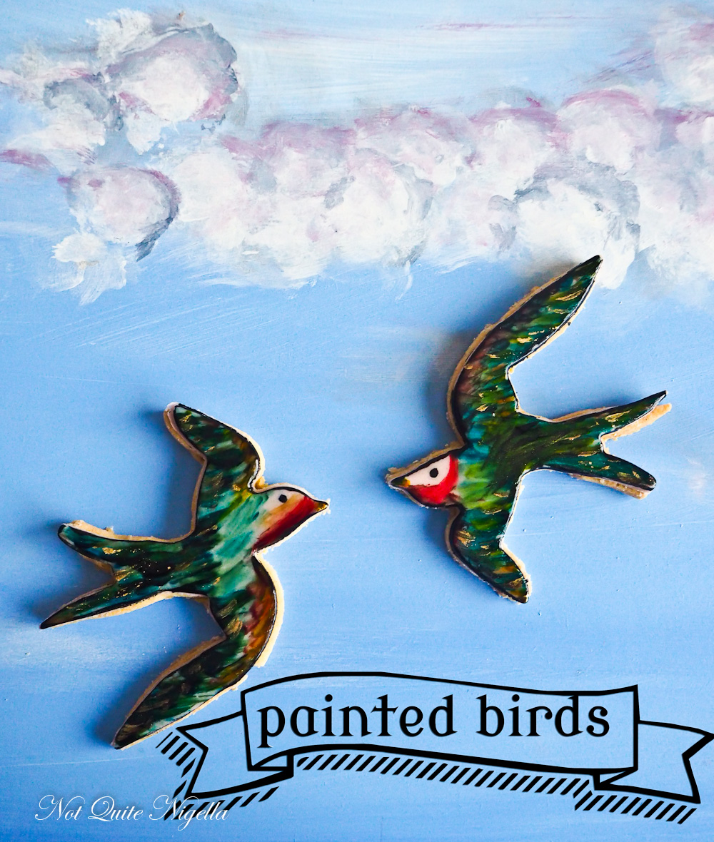 Painted Bird Cookies
