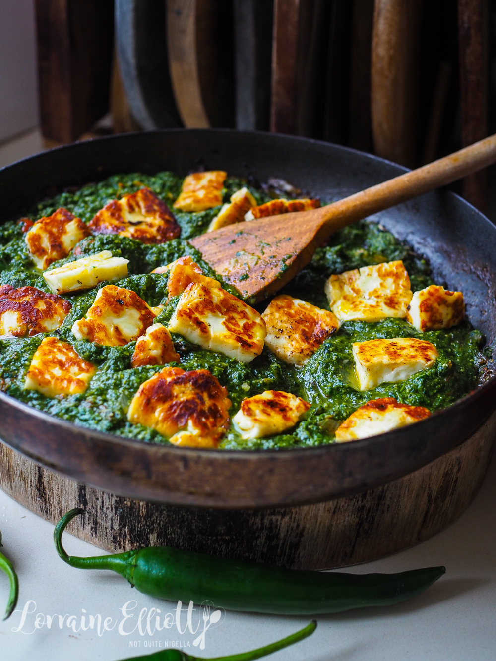 Palak Paneer Halloumi Spinach Curry