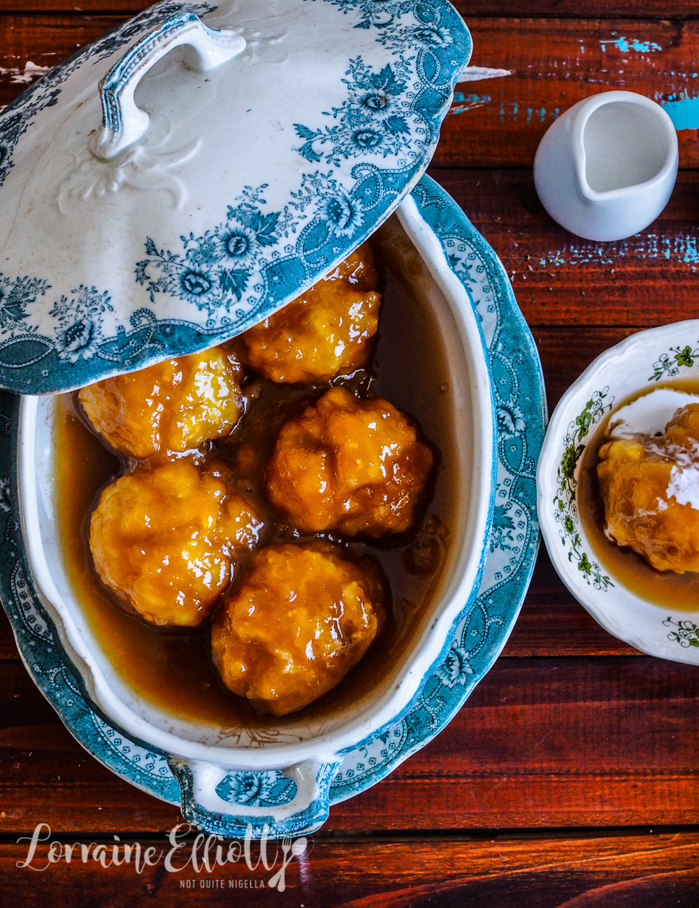 Coconut Palm Sugar Syrup Dumplings