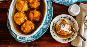 Saucy Coconut & Palm Sugar Syrup Dumplings!