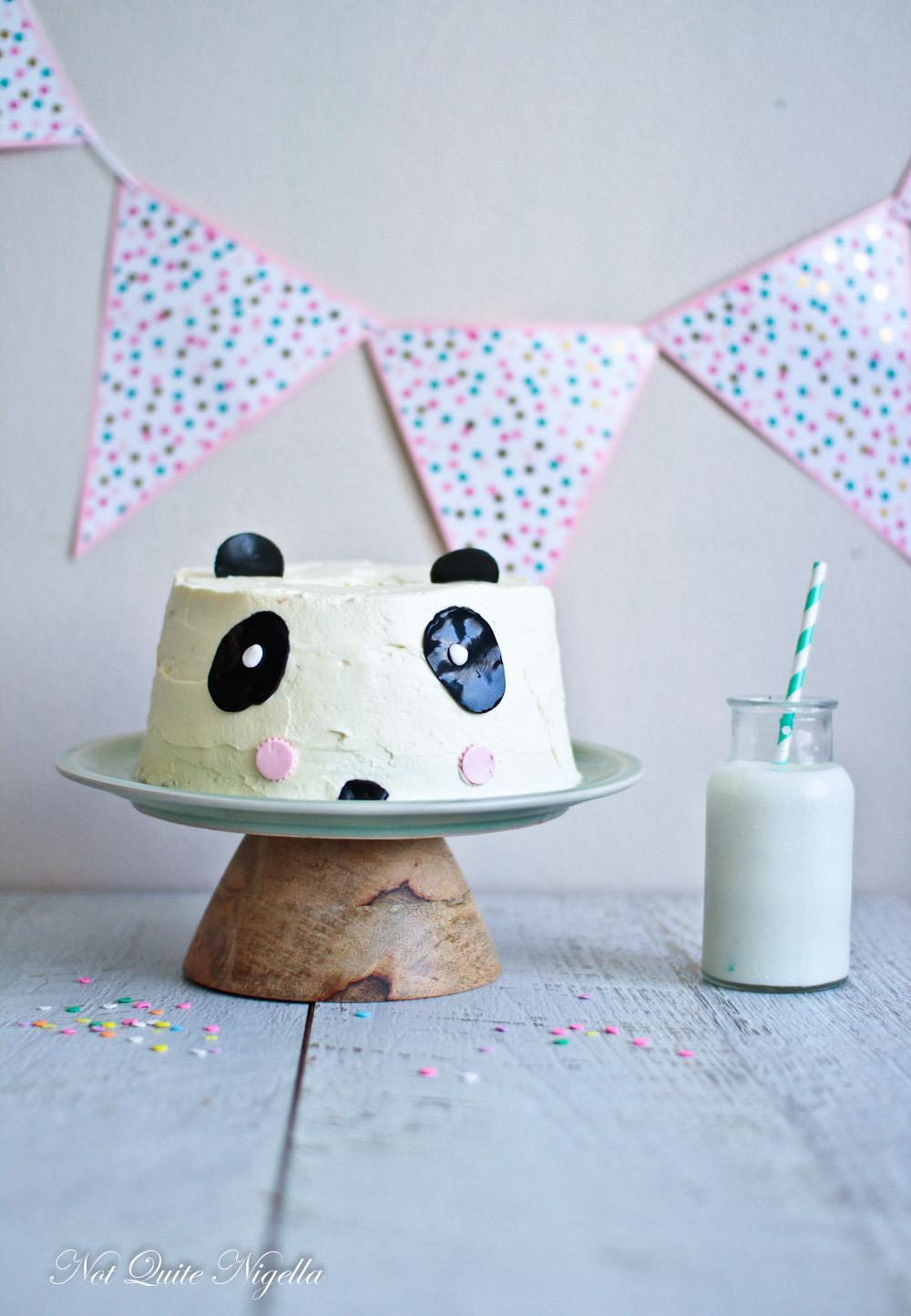Panda Pandan Cake