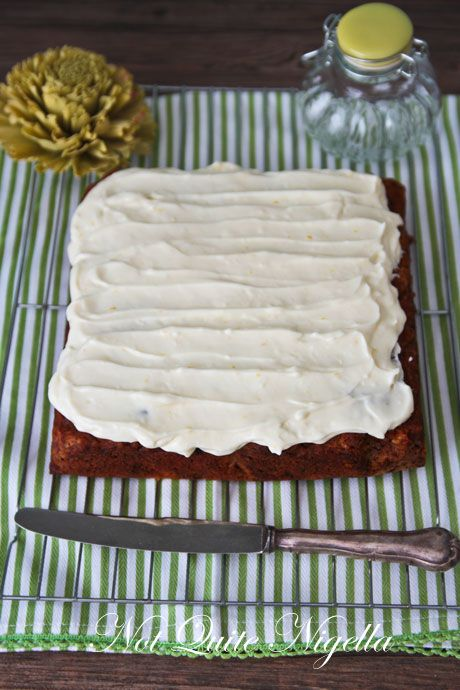 parsnip cake with lemon cream cheese frosting