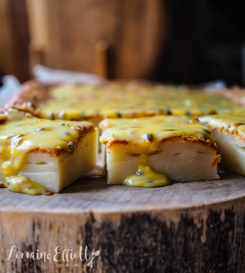 Butter Mochi Cake Hawaiian Passionfruit