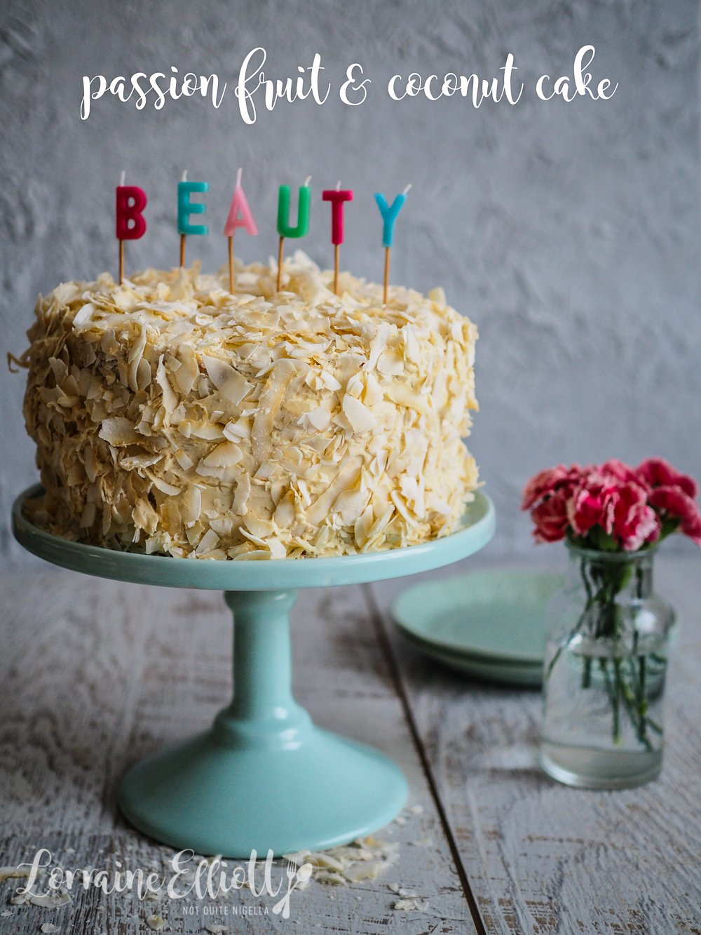 Peachy Passion Fruit Coconut Layer Cake Not Quite Nigella Funny Birthday Cards Online Alyptdamsfinfo
