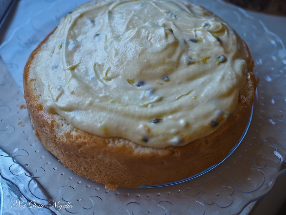 Passionfruit Cream Cheese Sponge Cake