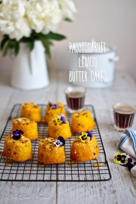 Passionfruit Lemon butter Cakes