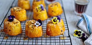 Oh You Little Tart: Passionfruit & Lemon Mini Cakes!