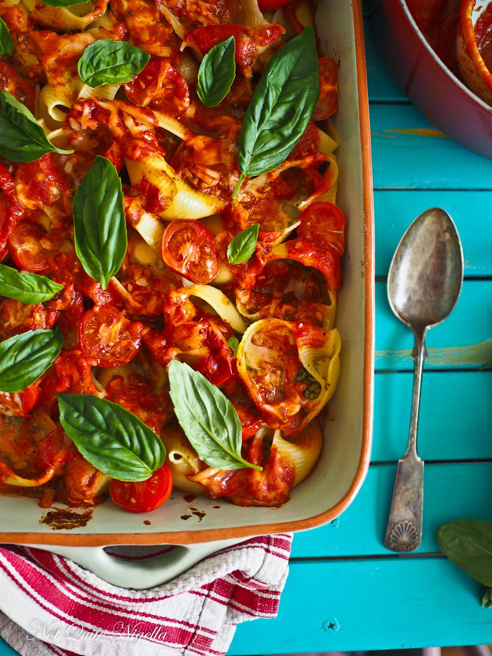 Tomato Basil Bocconcini Pasta Bake Vegetarian