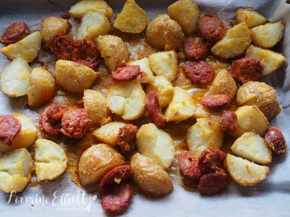 Patatas Bravas Chorizo