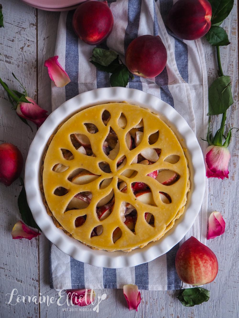 Patterned Peach Pie