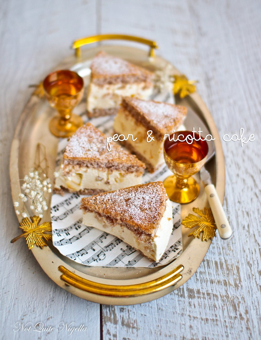 Pear and Ricotta Cake