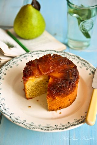 pear rosemary tea cake