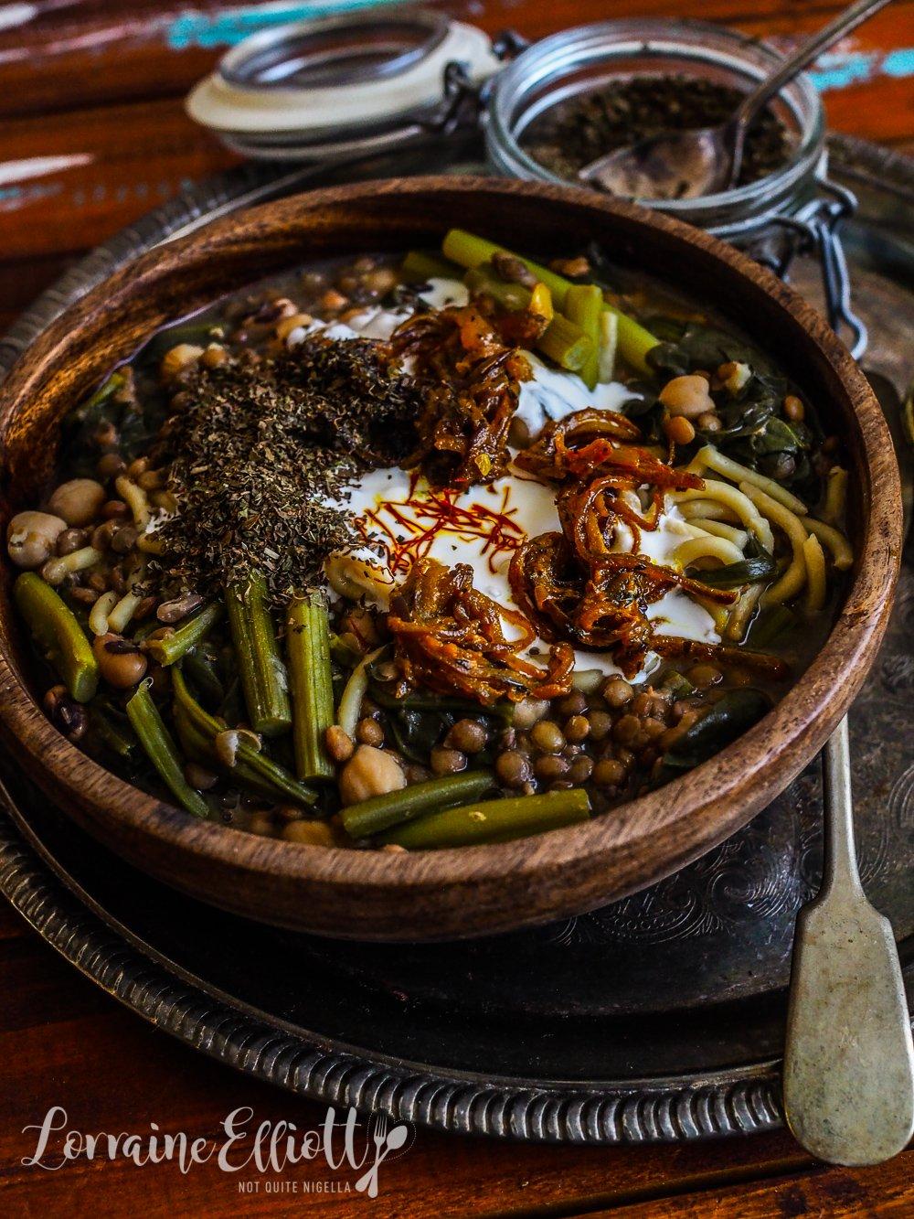 Persian Lentil & Noodle Soup Ash Reshteh
