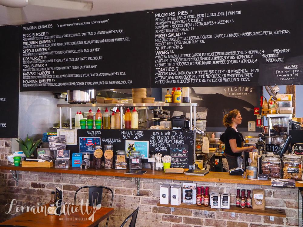 Pilgrim's vegetarian vegan cafe Cronulla