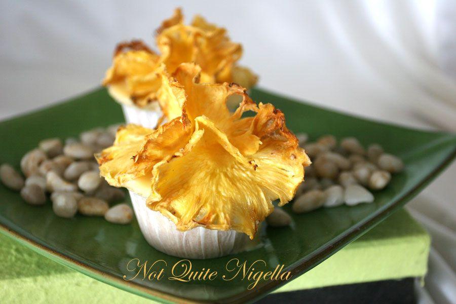 Pineapple Hibiscus cupcakes
