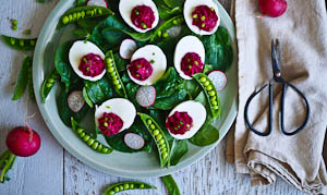 Go Pink With Hot Pink Devilled Eggs!