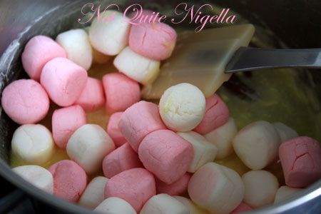 adding marshmallows