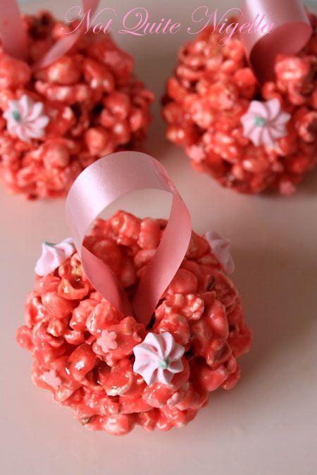 Pink popcorn pomander 3