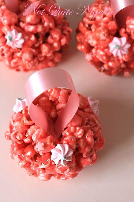 Pink popcorn pomander 4