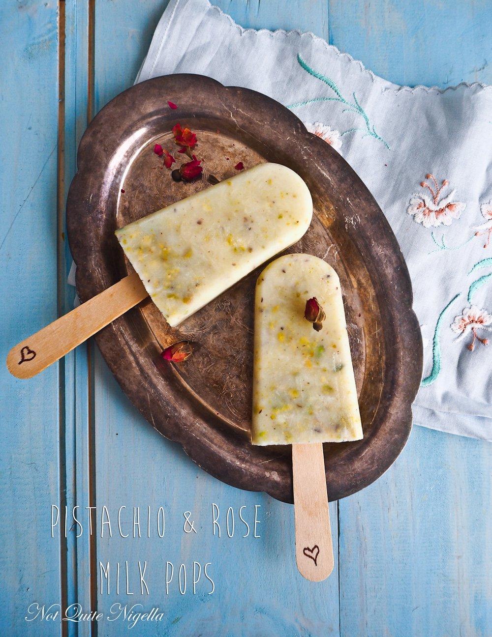 Pistachio Milk Popsicles