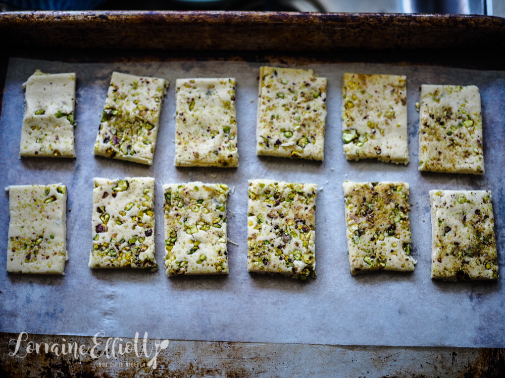 Pistachio & White Chocolate Dipped Shortbread