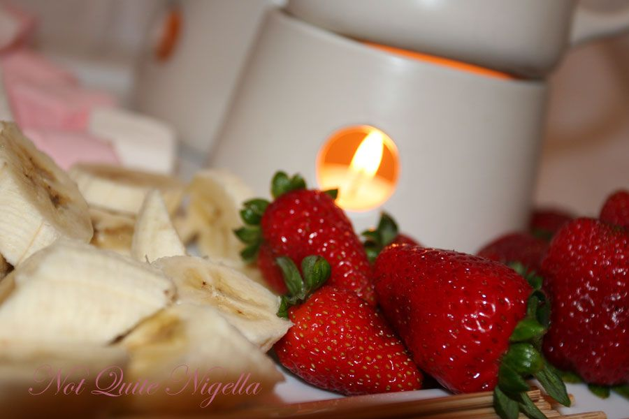 Butterscotch and mocha fondue