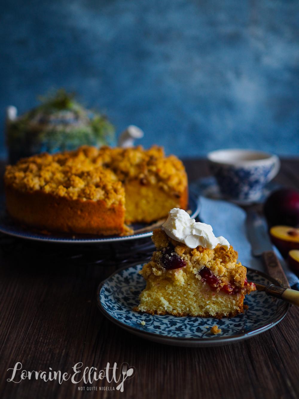 Plum Streusel Cake Pflaumen Streuselkuchen
