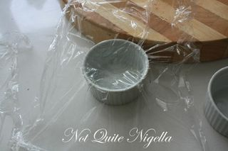 cling wrap ramekin