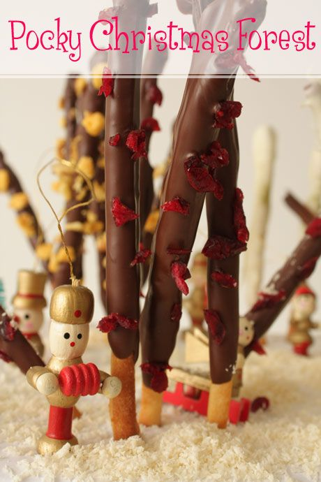Pocky Christmas Forest: White Christmas, Dark Christmas, Chili Chocolate, Honeycomb and Green Tea Pocky