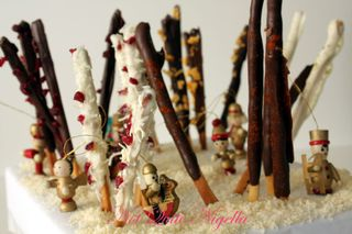 Pocky Christmas Forest: White Christmas, Dark Christmas, Chili Chocolate, Honeycomb and Green Tea Pocky